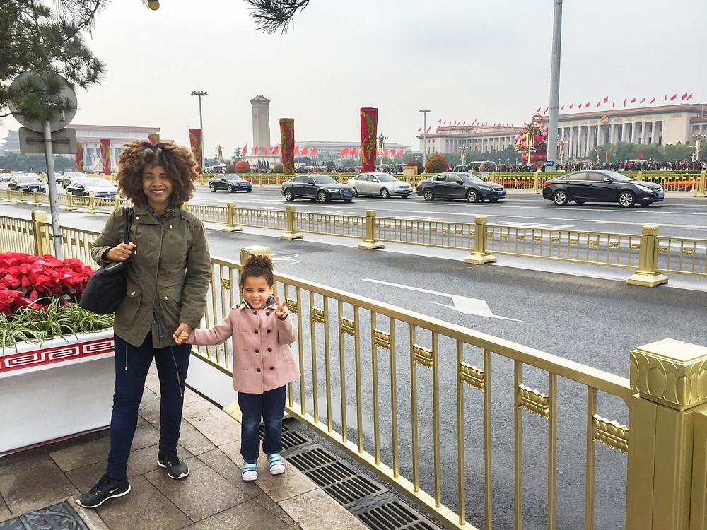 At Tiananmen Square-Beijing