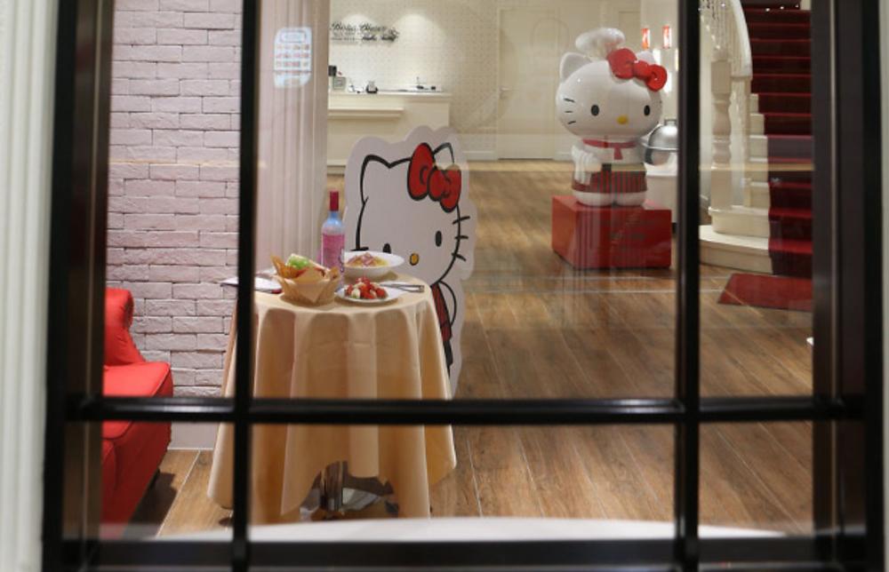 Hello Kitty restaurant in Shanghai