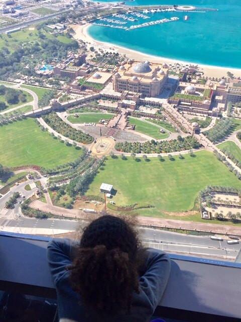 Loreva enjoying a panoramic views of Abu Dhabi