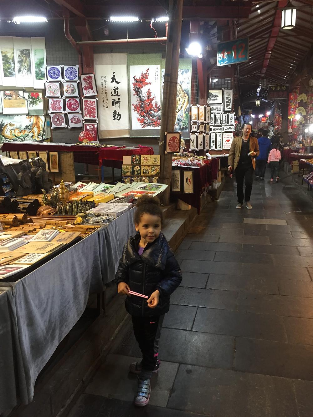 Muslim quarter market in Xi'an