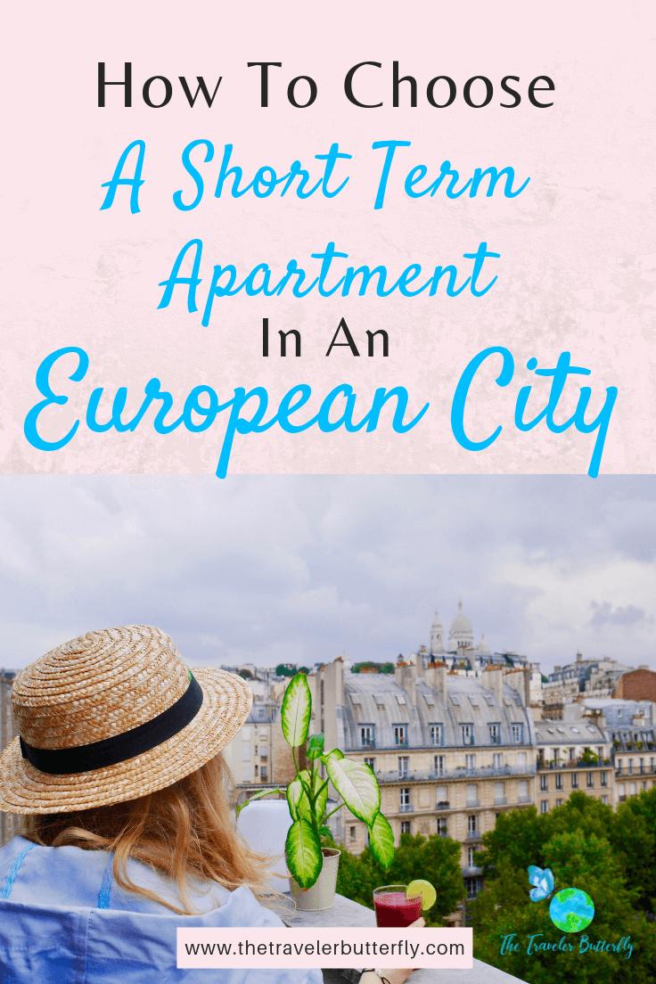 a short term apartment