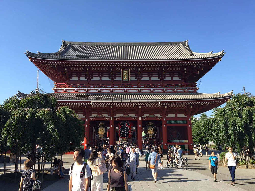 At Sensoji (浅草寺)in Asakusa, Tokyo, Japan. It is Tokyo's oldest temple, and one of its most significant.