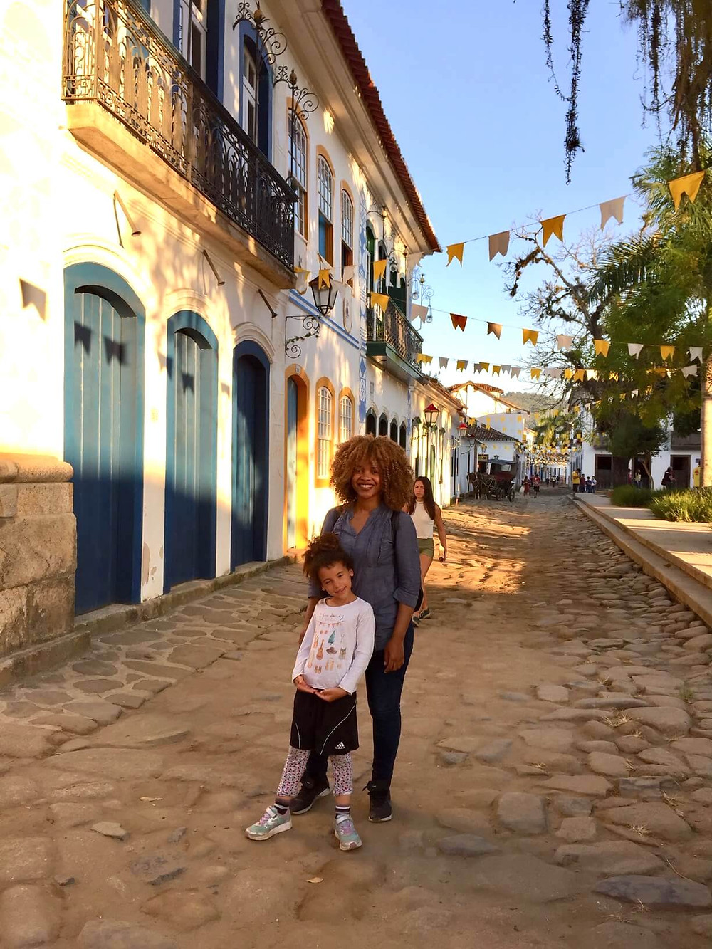 Mum and I in Paraty old city town. It is a UNESCO heritage site