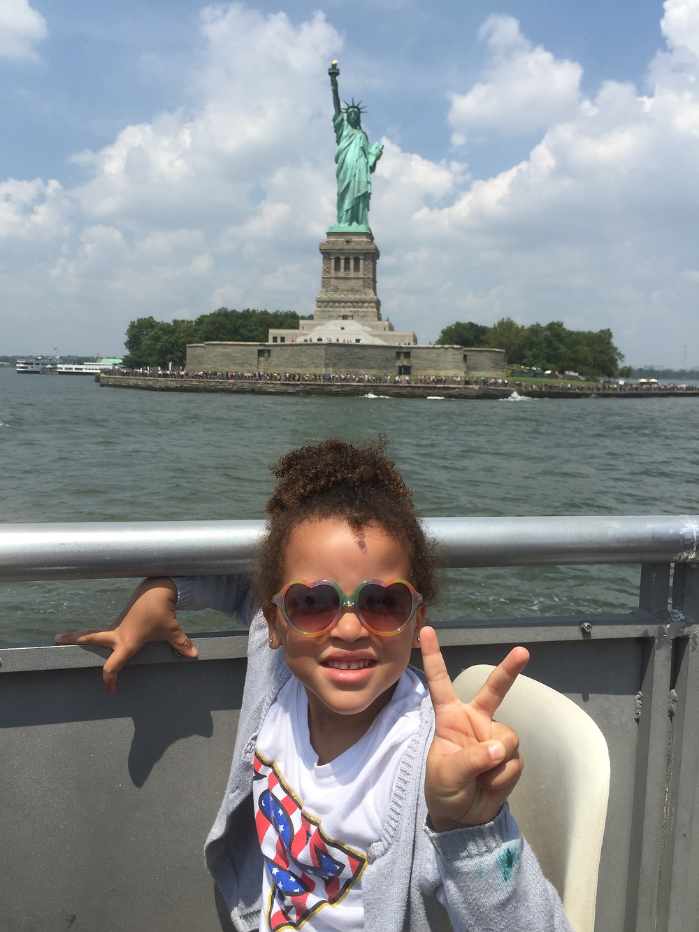 Loreva fun day at the Statue of Liberty