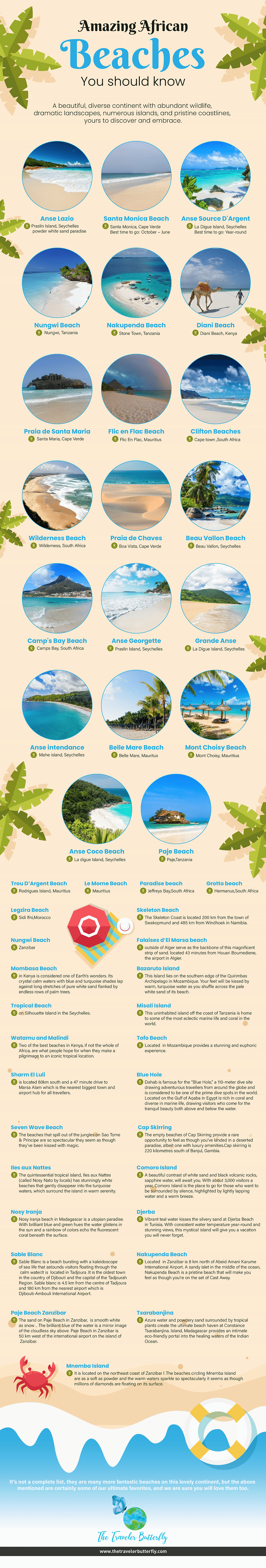Best Beaches In Africa For Holidays Vacations