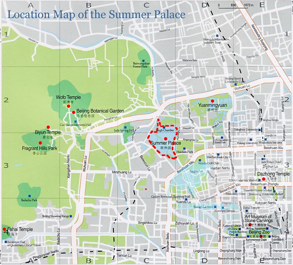 location map of summer