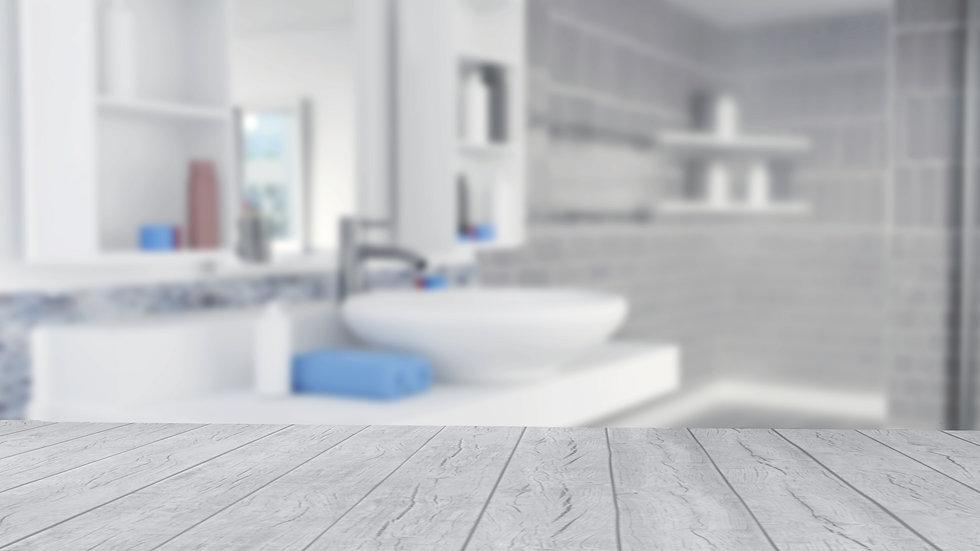 bathroom-interior-design-with-blue-towel