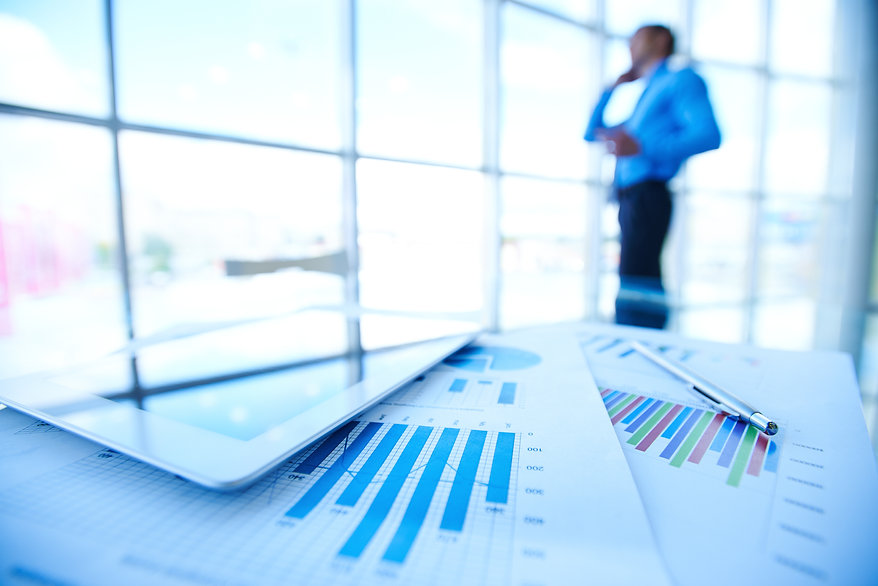 statistic-documents-with-businessman-blu
