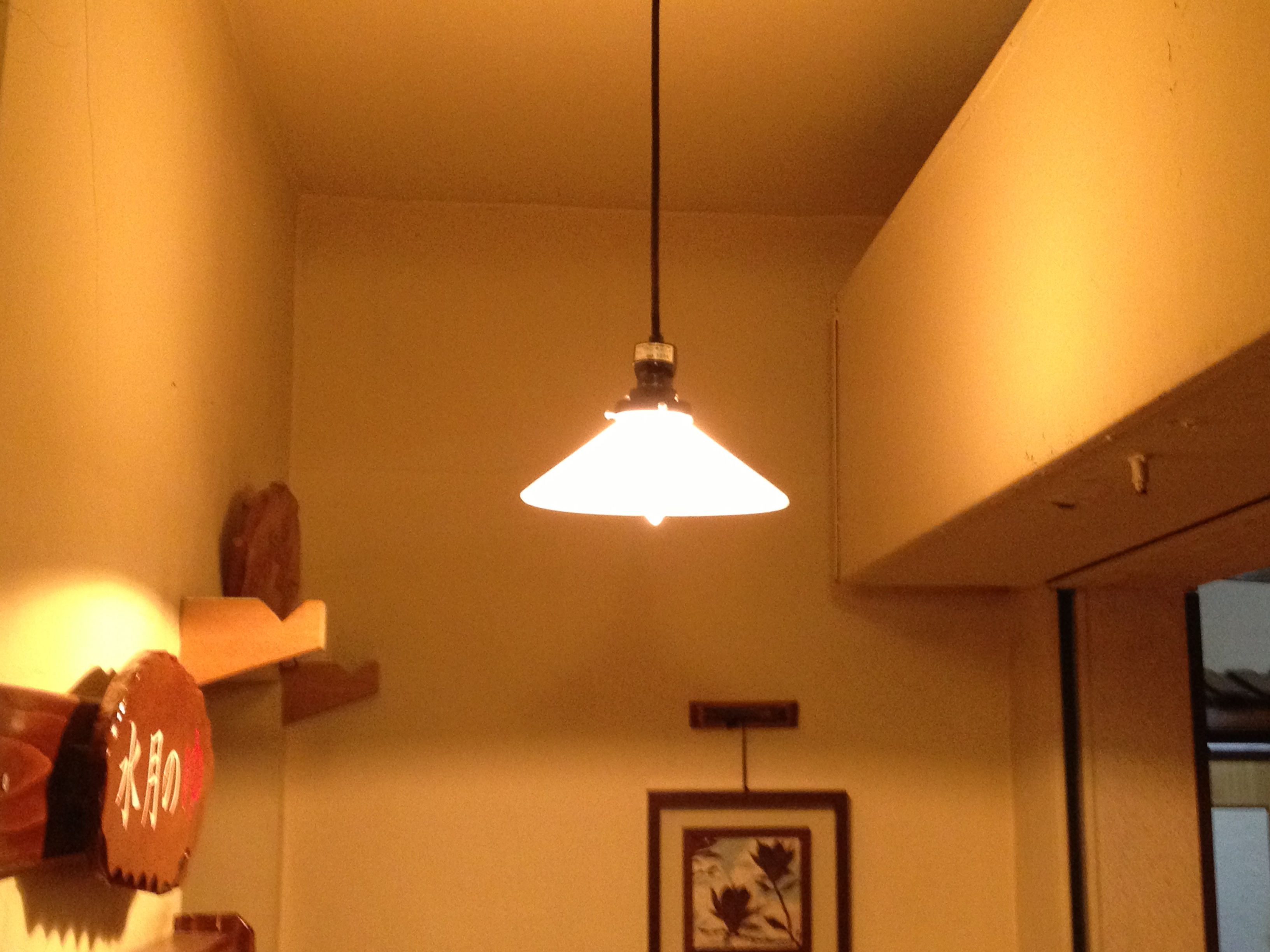 エジソン電球を使用したペンダントライト