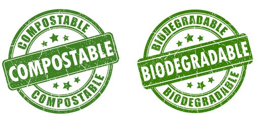 The difference between biodegradable or compostable