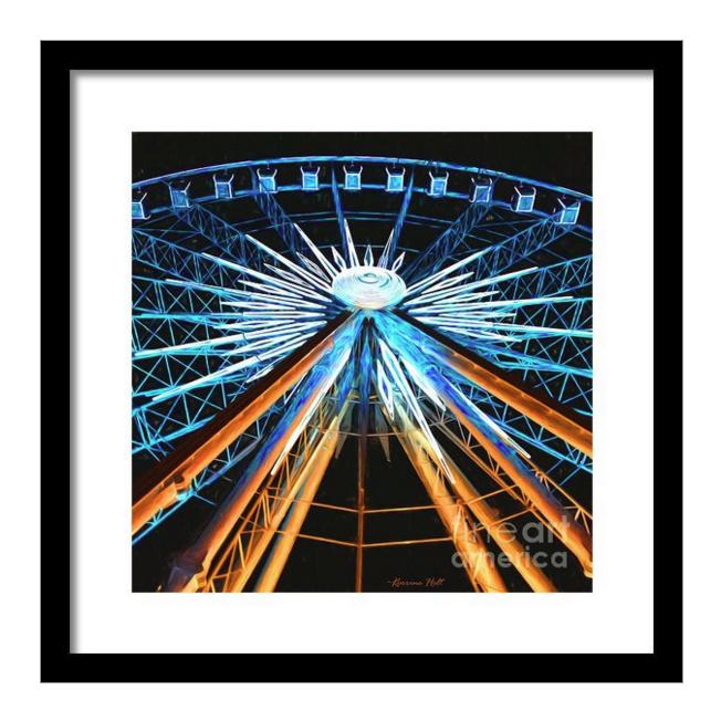 Ferris Wheel Framed