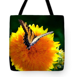 Sunflower Butterfly Tote