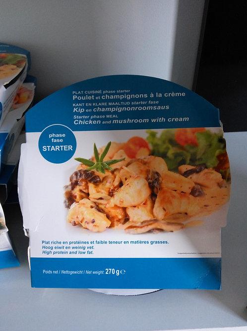 Plat cuisiné poulet/champignons à la crème recto