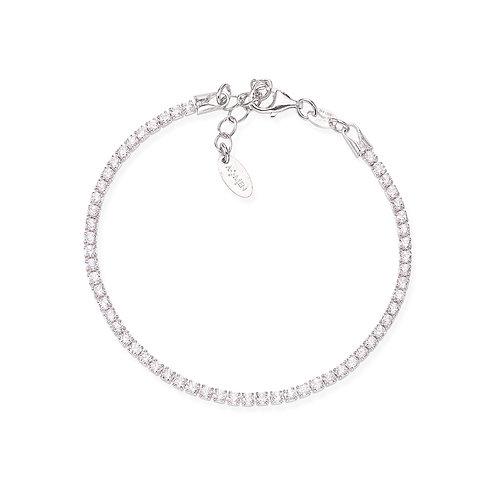 SS Tennis Bracelet w/ White CZ