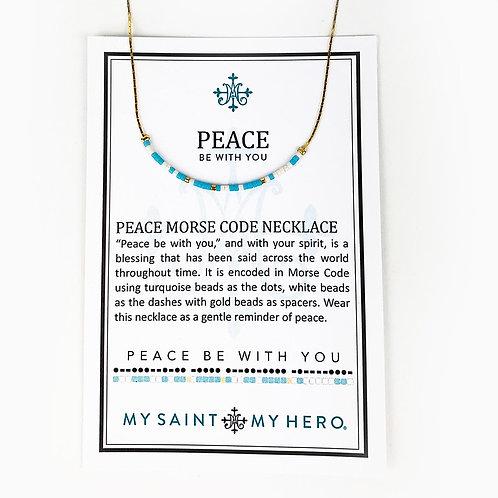 Peace Morse Code Necklace