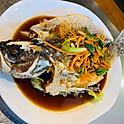 Deep Fried Whole Barramundi Fish
