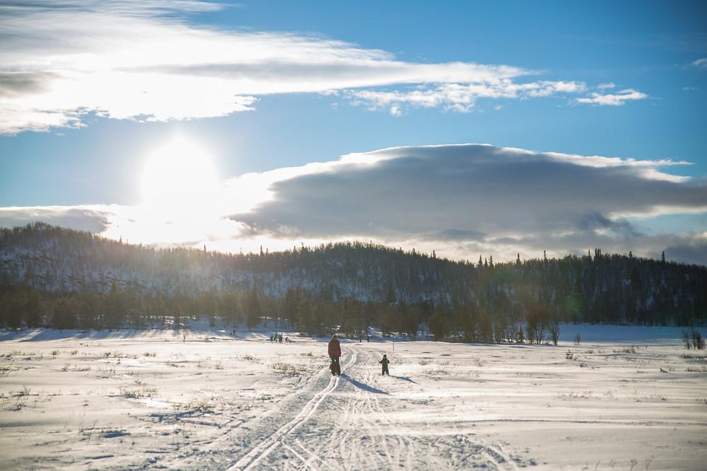 Sol og lange skiturer - kan vi bedre ha det.