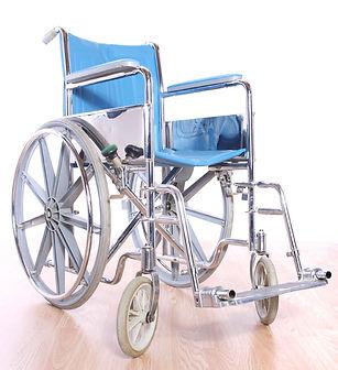 fauteuil roulant bleu