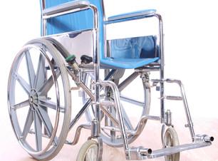 Blue wheelchair