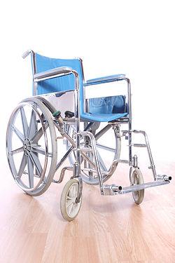 blau Rollstuhl