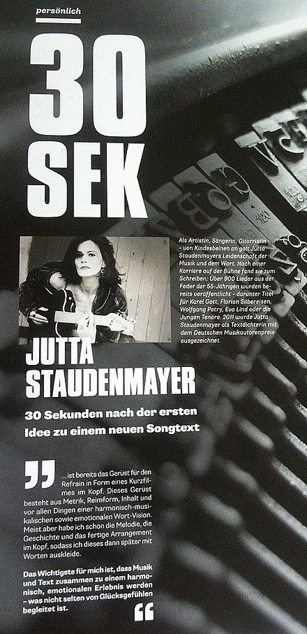 Jutta Staudenmayer, Virtuos, Magazin, GEMA