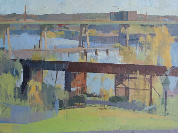From Brown's Island and 2nd Street_oil o