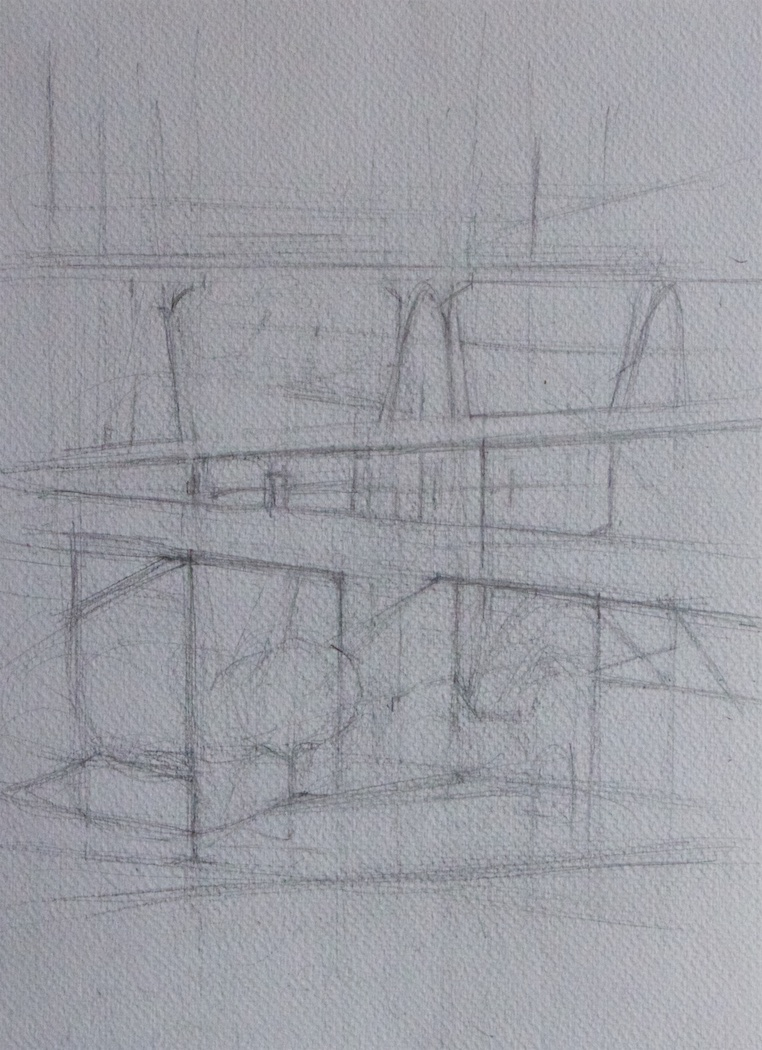 Pencil Study of Three Bridges