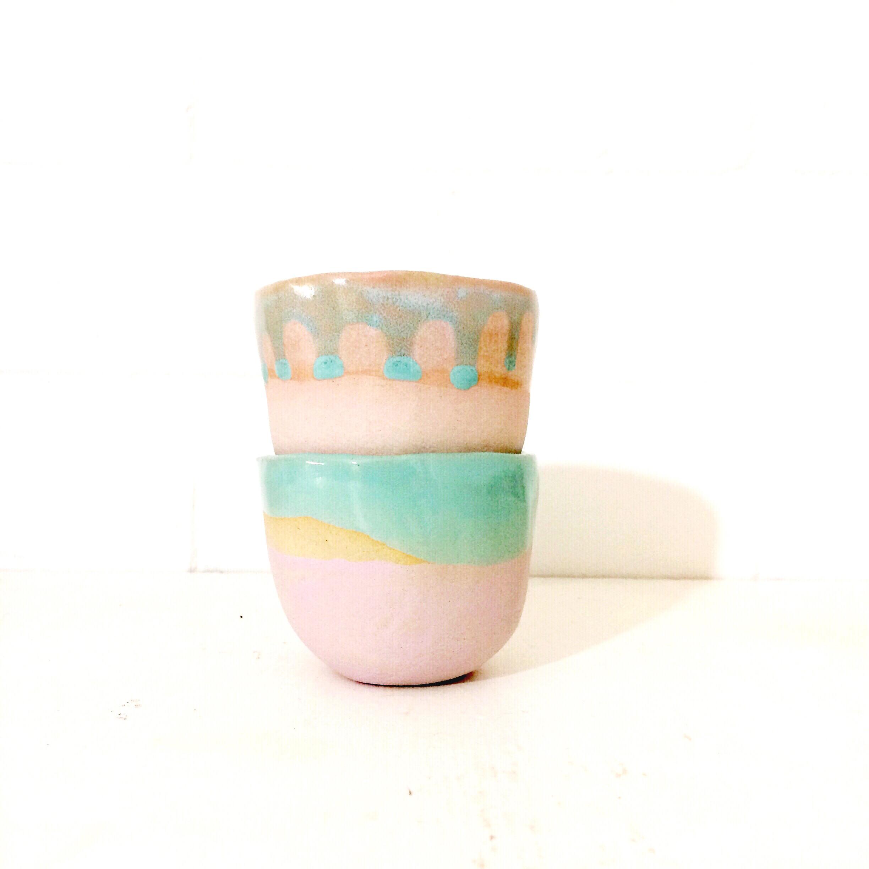 PIECE OF CLAY espresso set pastel 2