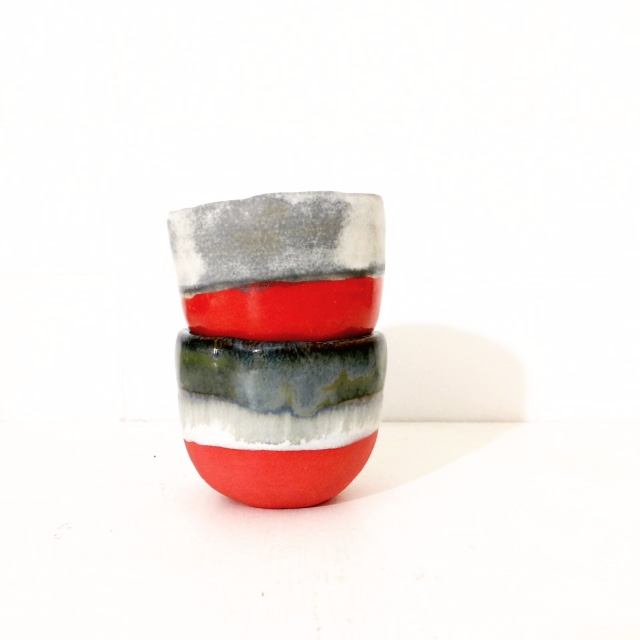 PIECE OF CLAY espresso set red