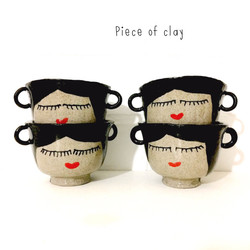 Piece of Clay plantenhangers gezichtjes