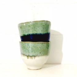 PIECE OF CLAY espresso mugs green