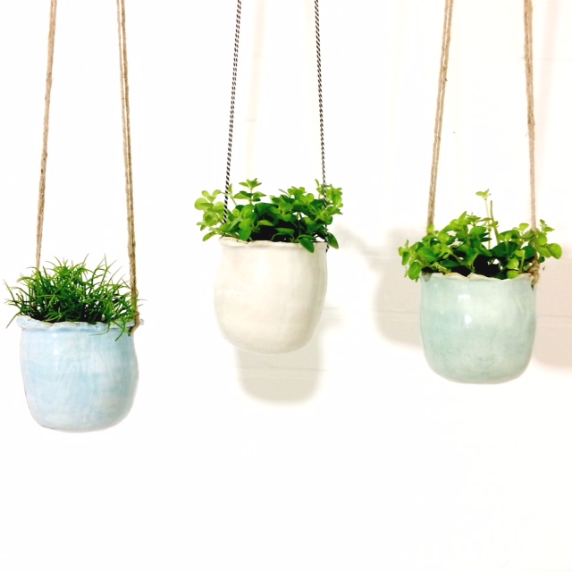 PIECE OF CLAY hanging planters