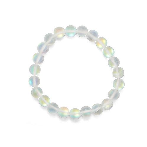 Mermaid Kisses! Iridescent Glass Stretch Bracelet