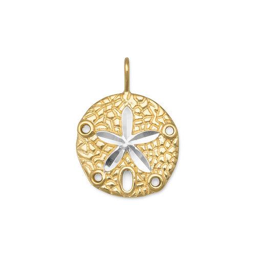 14 Karat Gold Plated Sand Dollar Pendant