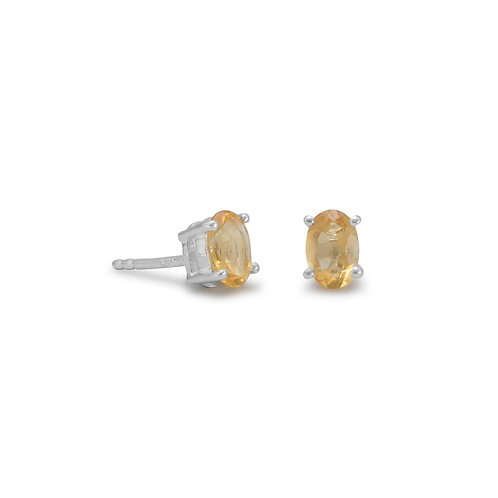 Oval Citrine Earrings
