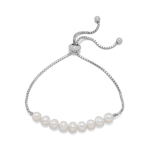 Cultured Freshwater Pearl Bolo Bracelet