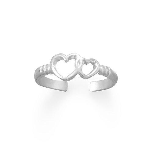 True Love Hearts Toe Ring