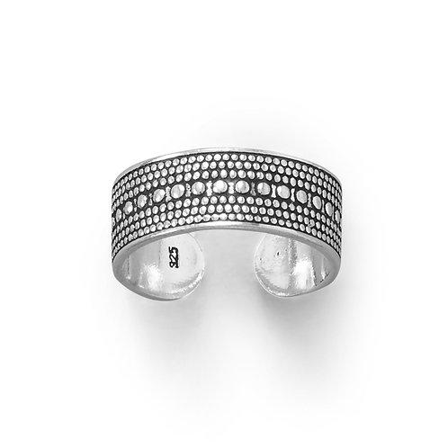 Oxidized Bead Design Toe Ring