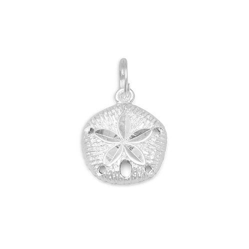 Diamond Cut Sand Dollar Charm
