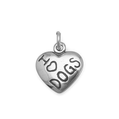 I Love DOGS Charm