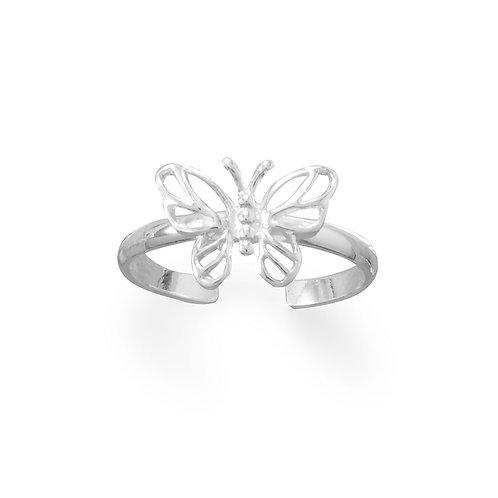 Pretty Butterfly Toe Ring