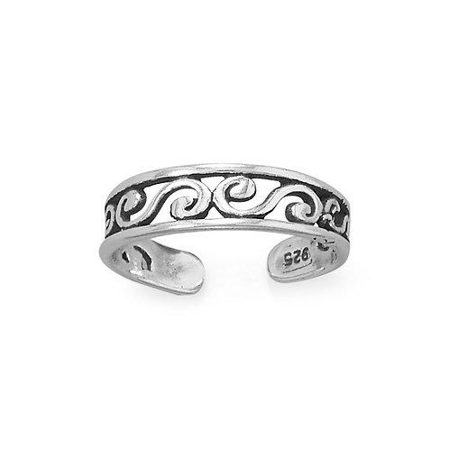 Swirly Twirly Toe Ring