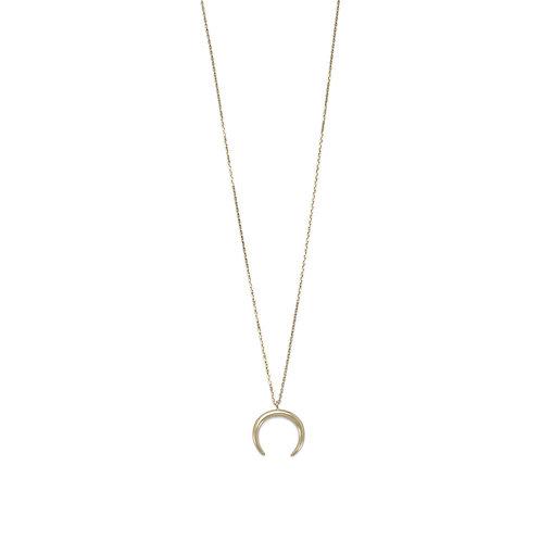 14 Karat Gold Plated Crescent Necklace