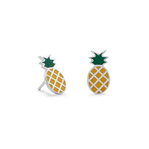 Pineapple Polished Earrings
