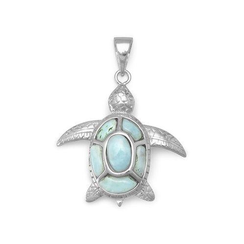 Larimar Turtle Pendant