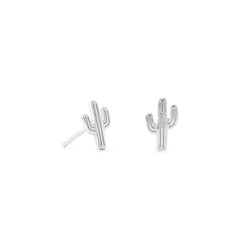 Small Polished Saguaro Cactus Stud Earrings