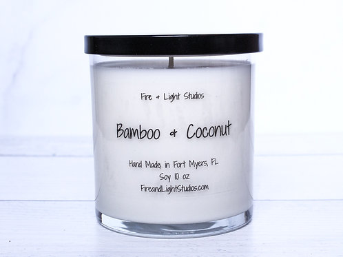 Bamboo & Coconut Libbey Jar