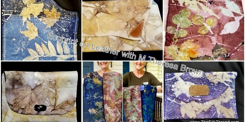 Leather Ecoprinting Workshop in NC: April 18-19, 2020
