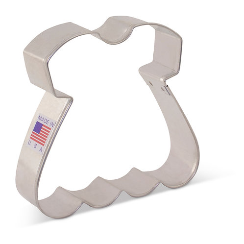"Baby Dress Cookie Cutter 3 1/4"" x 3 1/2"""
