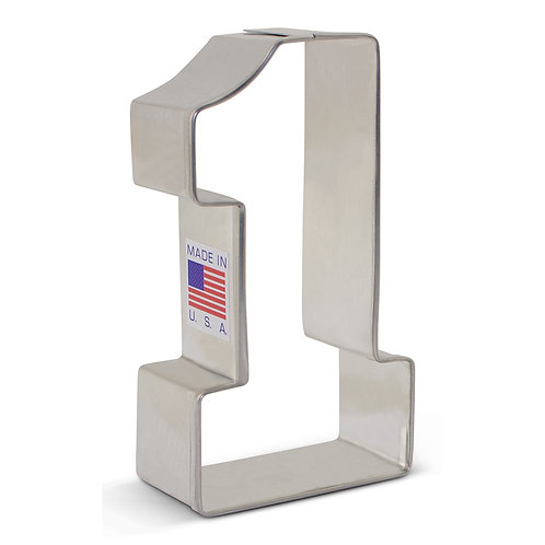 "Number 1 Cookie Cutter - 3 1/4"" x 1 3/4"""